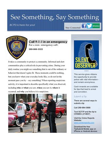 See Something, Say Something 2016