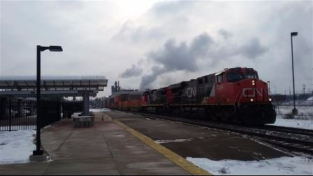 Freight train through ITC