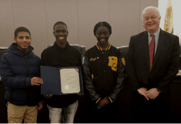 Youth Advisory Board quiz bowl team honored with proclamation