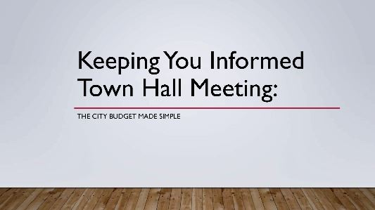 Keeping You Informed 2019 Town Hall presentation cover