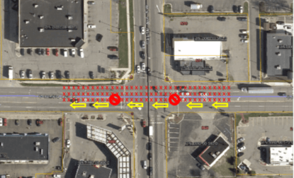 Columbia water main work map August 12 2019
