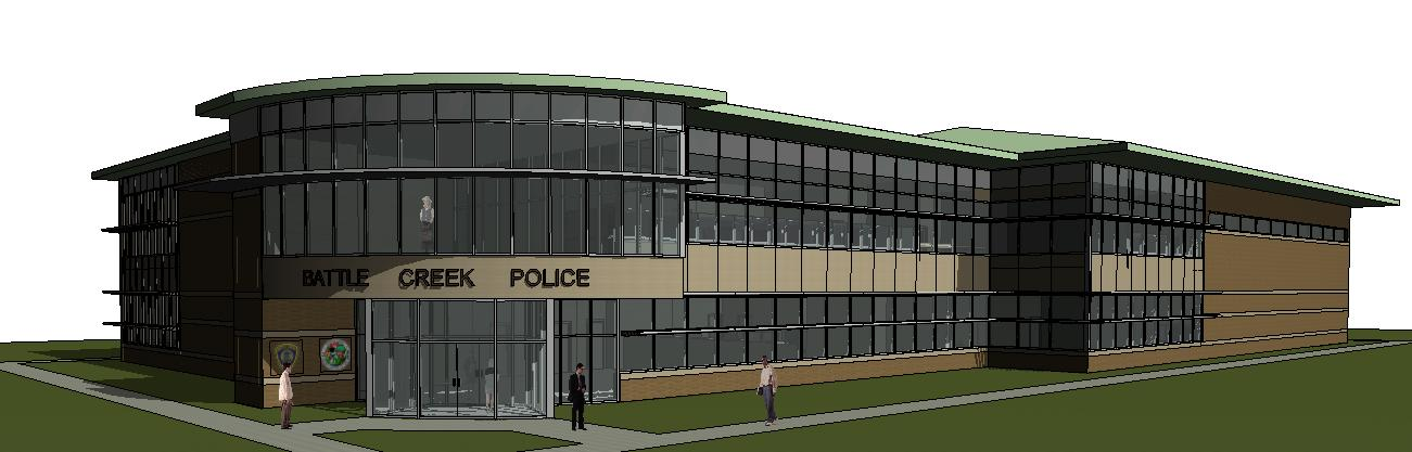Police Department building rendering