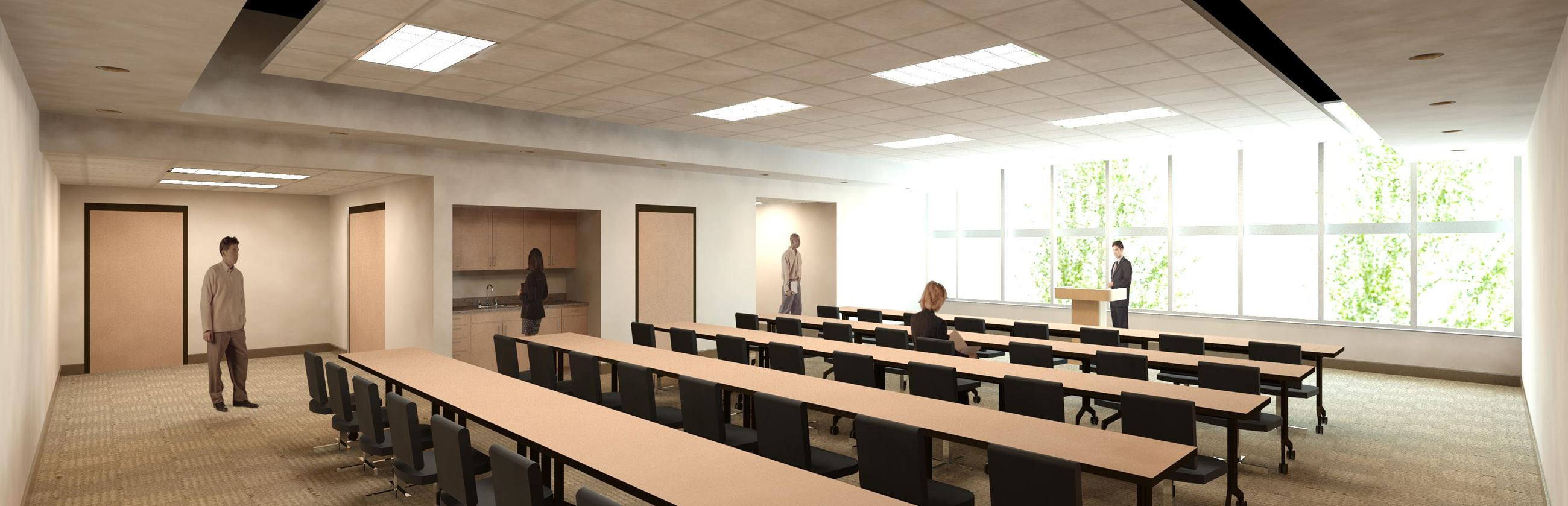 Police Department community room rendering