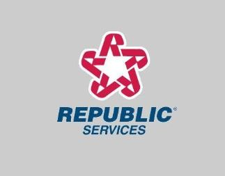 Republic Services logo on gray background