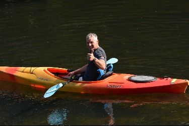 Chief's Challenge race kayak portion Opens in new window