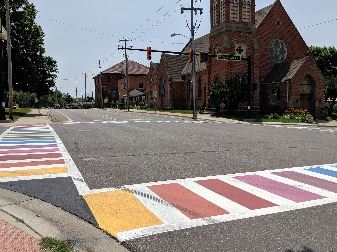 City crosswalk art