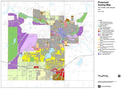 Zoning map draft image 2020