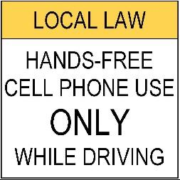 Proposed Cell Phone Regulatory Sign